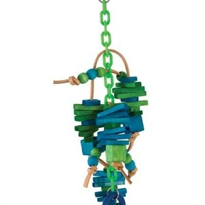 Caitec Bird Toy Tug Lover Medium 5in x 14in Assorted Colors